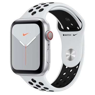 Apple Watch Nike Series 5, GPS, 44mm, Cinza Espacial, Pulseira Preta - MX3E2BZ/A