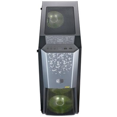 Gabinete Gamer Cooler Master Masterbox MB500 TUF, Mid Tower, RGB, com FAN, Lateral em Vidro - MCB-B500D-KGNN-TUF