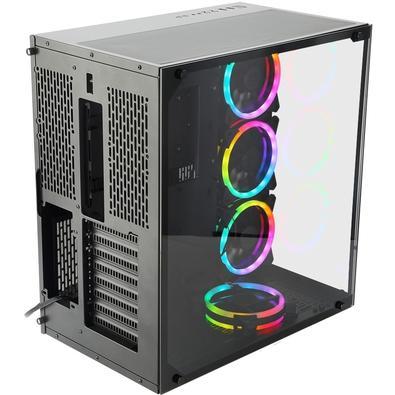 Gabinete Gamer Redragon Wideload, Mid Tower, RGB, com FAN, Lateral e Frontal em Vidro - GC-802