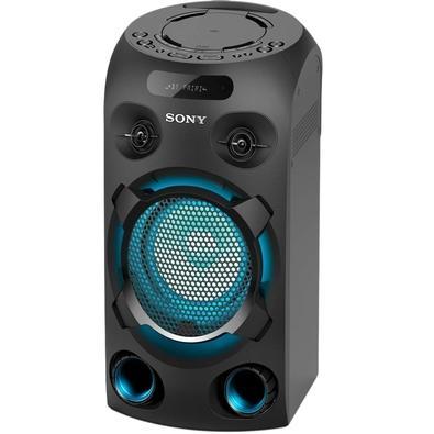 Mini System Sony MHC-V02, Torre, LED, CD, USB, Bluetooth, FM, Karaokê, Bivolt, Preto - MHC V02