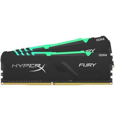 Memória HyperX Fury RGB, 16GB (2x8GB), 3600MHz, DDR4, CL17, Preto - HX436C17FB3AK2/16