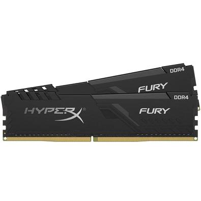 Memória HyperX Fury, 64GB (2x32GB), 2400MHz, DDR4, CL15, Preto - HX424C15FB3K2/64