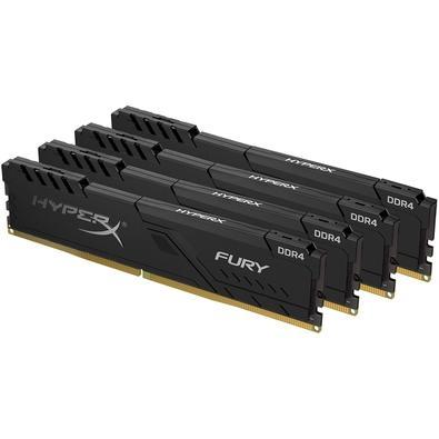 Memória HyperX Fury, 128GB (4x32GB), 3200MHz, DDR4, CL16, Preto - HX432C16FB3K4/128