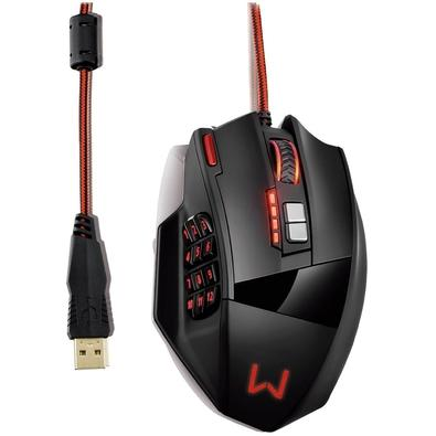 Mouse Gamer Warrior Thane X, RGB, 18 Botões, 10000 DPI - MO296