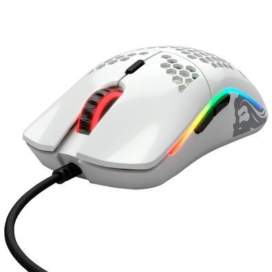 Mouse Gamer Glorious Model O- Minus, RGB, 6 Botões, 12000DPI, Branco Glossy - GOM-GWHITE