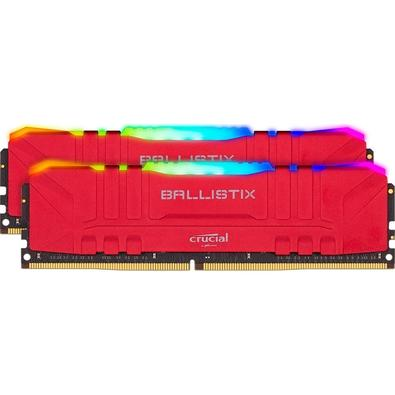 Memória Crucial Ballistix Sport LT, RGB, 32GB (2X16), 3200MHz, DDR4, CL16, Vermelha - BL2K16G32C16U4RL