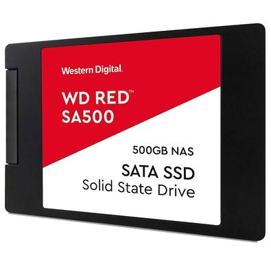 SSD WD Red SA500 NAS, 500GB, SATA, Leituras: 560Mb/s e Gravações: 530Mb/s - WDS500G1R0A