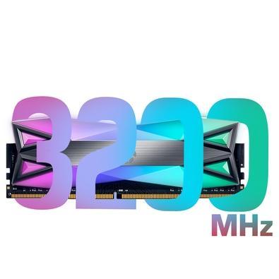 Memória XPG Spectrix D60G, RGB, 16GB, 3200MHz, DDR4, CL16, Cinza - AX4U3200316G16A-ST60