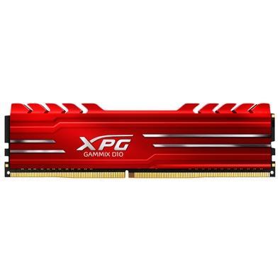 Memória XPG Gammix D10, 8GB, 3000MHz, DDR4, CL16, Vermelho - AX4U300038G16A-SR10