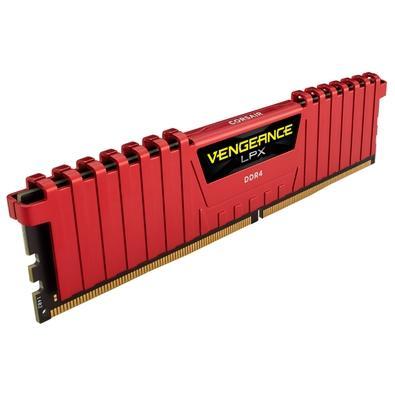 Memória Corsair Vengeance LPX 16GB (2x8GB) 2133Mhz DDR4 C13 Red - CMK16GX4M2A2133C13R