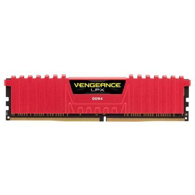 Memória Corsair Vengeance LPX 16GB (4x4GB) 2133Mhz DDR4 C13 Red - CMK16GX4M4A2133C13R