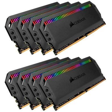 Memória Corsair Dominator RGB 128GB (8x16GB) 3000MHz  DDR4  C15 Black - CMT128GX4M8C3000C15