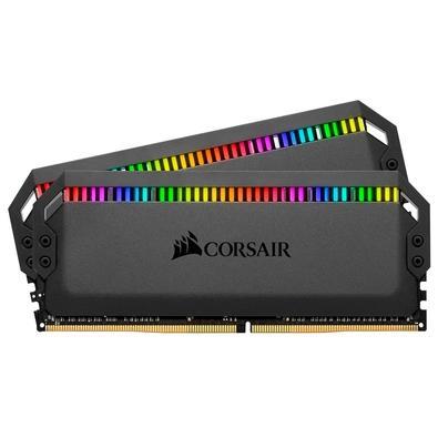 Memória Corsair Dominator RGB 32GB (2x16GB) 3200MHz  DDR4  C16 Ryzen Black - CMT32GX4M2Z3200C16