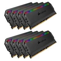 Memória Corsair Dominator RGB 64GB (8x8GB) 3200MHz  DDR4  C16 Black - CMT64GX4M8C3200C16