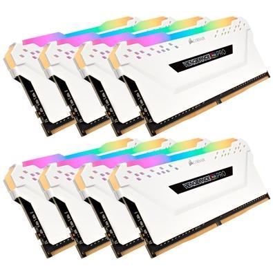 Memória Corsair Vengeance RGB Pro 64GB (8x8GB) 3200MHz DDR4 C16 White - CMW64GX4M8C3200C16W