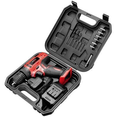 Parafusadeira e Furadeira Mondial Power Tools, 12V, com Maleta, Bivolt - FPF-06M
