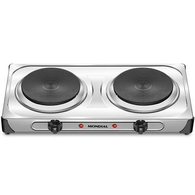 Fogão Elétrico Mondial Fast Cook Dual, 2 Chapas de Aquecimento, 6 Temperaturas, 2000W, 220V - FE-03