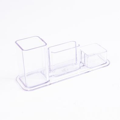 Conjunto Triplo Menno, Porta Lápis/Cartão/Clipes, Cristal - 2881-1807