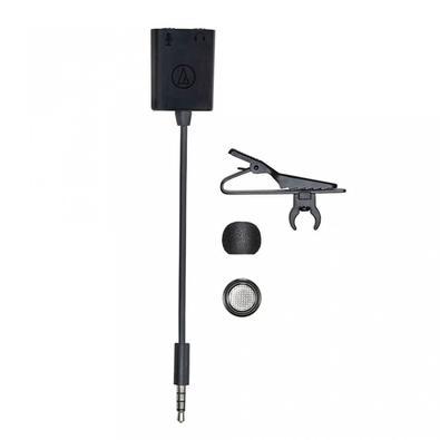 Microfone de Lapela Audio-Technica Omnidirecional Condensador, P2 - ATR3350XIS