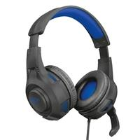 Headset Gamer Trust GXT 307 Ravu para PS4, Drivers 40mm, Preto/Azul - 23250