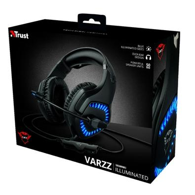 Headset Gamer Trust GXT 460 Varzz Illuminated, LED, Drivers 50mm - 23380