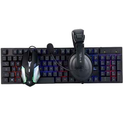 Kit Gamer Bright CB02 TMH - Teclado +  Mouse + Headset - 543