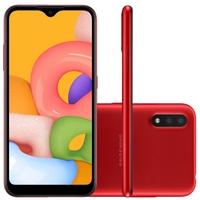 Smartphone Samsung Galaxy A01, 32GB, 13MP, Tela 5.7´, Vermelho - SM-A015MZRSZTO