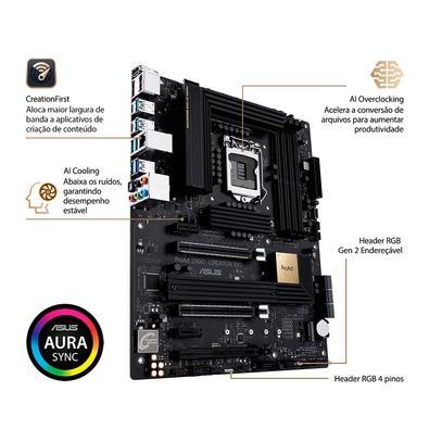 Placa-Mãe Asus ProART Z490-Creator 10G, Intel LGA 1200, ATX, DDR4