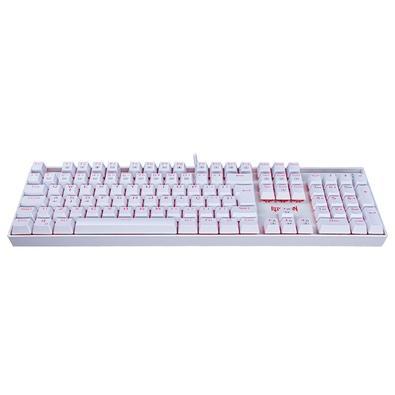 Teclado Mecânico Gamer Redragon Mitra K551W, LED, Switch Redragon MK2 Brown, ABNT2, Branco - K551W (BROWN)