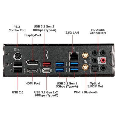 Placa-mãe MSI MPG Z490 GAMING EDGE WIFI, Intel LGA 1200, ATX, DDR4
