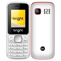 Celular Bright, Tela 1.77´, Câmera, Lanterna, Bluetooth, Rádio FM, Dual Chip, Vermelho/Branco - 0498