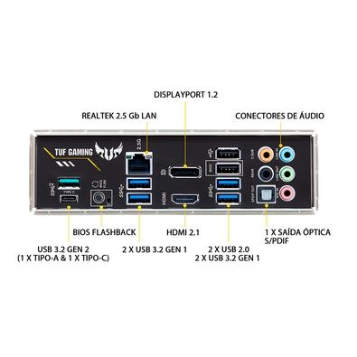 Placa-Mãe Asus TUF Gaming B550-Plus, AMD AM4, ATX, DDR4