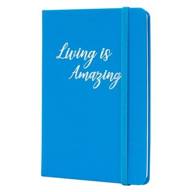 Caderno de Anotações Maxprint Max Neon, Living Is Amazing Azul - 721959