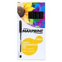 Caneta Esferográfica Pro Maxprint, Ponta 1.0mm, 12 UN, Preto - 706381