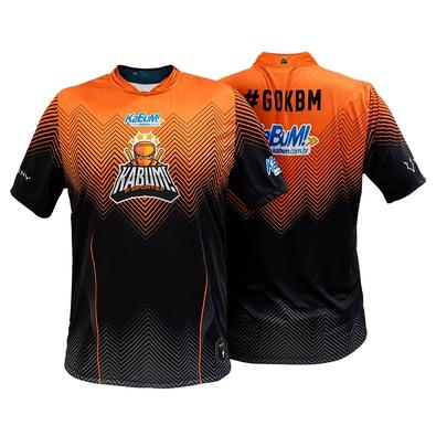 Camiseta Uniforme Oficial KaBuM! e-Sports 2020, Preta, Laranja, Ninja, Dry-Fit, Tamanho G