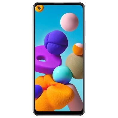 Smartphone Samsung Galaxy A21s, 64GB, 48MP, Tela 6.5´, Preto - SM-A217MZKKZTO