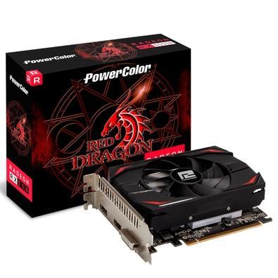 Placa de Vídeo PowerColor AMD Radeon RX 550, 2GB, DDR5 - AXRX 550 2GB64BD5-DH