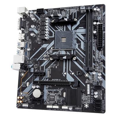 Placa-Mãe Gigabyte B450M H, AMD AM4, Micro ATX, DDR4