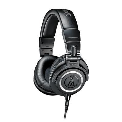 Headphone Profissional Audio-Technica, com Case, Preto - ATH-M50x