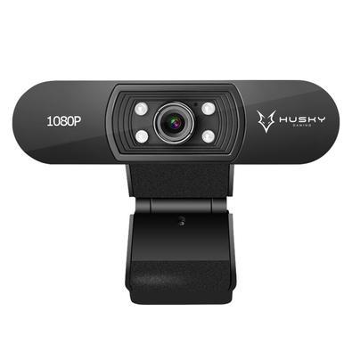 Webcam Husky Snow, Full HD, 1080p, com Iluminação e Foco Ajustável - WC-HSN