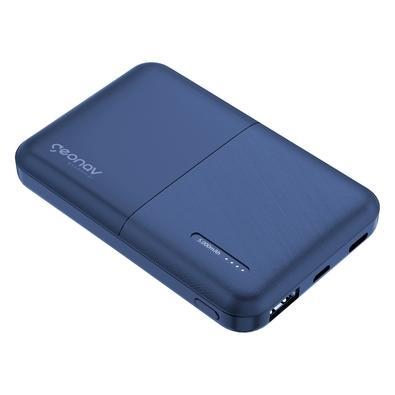 Carregador Portátil Geonav Essential, 5000mAh, 2 USB, Azul - ES5KMB