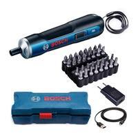 Parafusadeira a Bateria Bosch Go, 3.6V, com 32 Bits, Bivolt - 06019H20E1-000