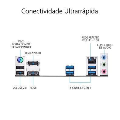 Placa-Mãe Asus Prime B460I-Plus, Intel B460, ITX 6.0, DDR4