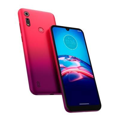 Smartphone Motorola Moto E6S, 64GB, 13MP, Tela 6.1´, Vermelho Magenta + Capa Protetora - PAJD0058BR