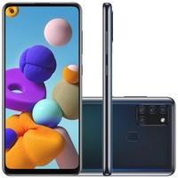 Smartphone Samsung Galaxy A21s, 64GB, 48MP, Tela 6.5´, Preto - SM-A217MZKRZTO