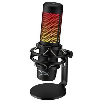 Microfone Gamer HyperX QuadCast S, Antivibração, LED RGB, USB - HMIQ1S-XX-RG/G
