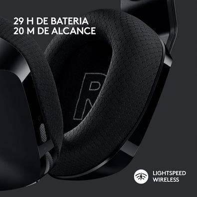 Headset Gamer Sem Fio Logitech G733 RGB Lightsync, 7.1 Dolby Surround com Blue VOICE, Preto - 981-000863