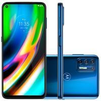 Smartphone Motorola Moto G9 Plus, 128GB, 64MP, Tela 6.8', Azul Indigo + Capa Protetora - XT2087-1