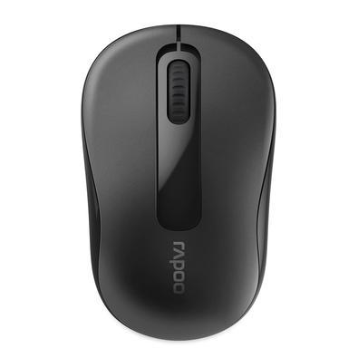 Mouse sem fio Rapoo M10, 2.4 Ghz, 3 Botões, 1000 DPI, Preto - RA007