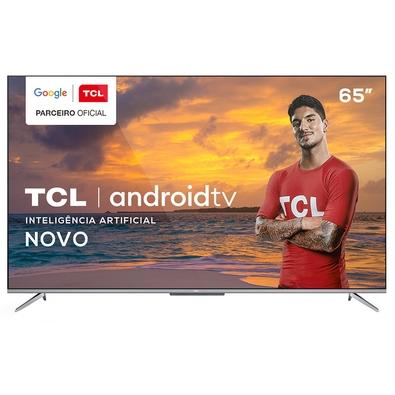 "Smart TV TCL 65"" P715 LED 4K UHD, WiFi, Bluetooth, 3x HDMI, 2x USB, HDR, Android TV, Google Assistant e Borda Ultrafina - 65P715"